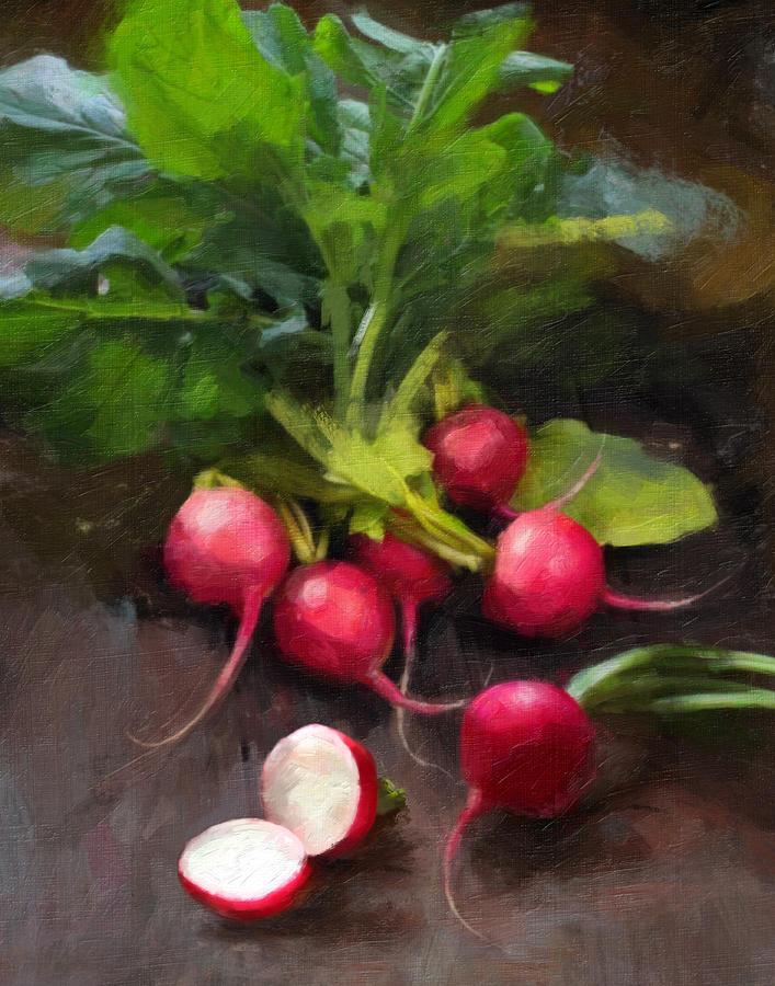 Radishes Painting - Fresh Radishes by Robert Papp
