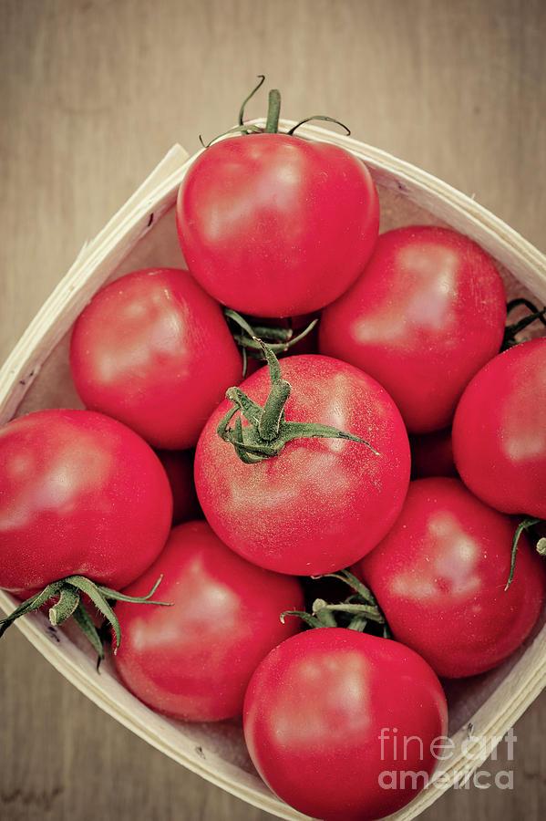 Food Photograph - Fresh Ripe Tomatoes by Edward Fielding