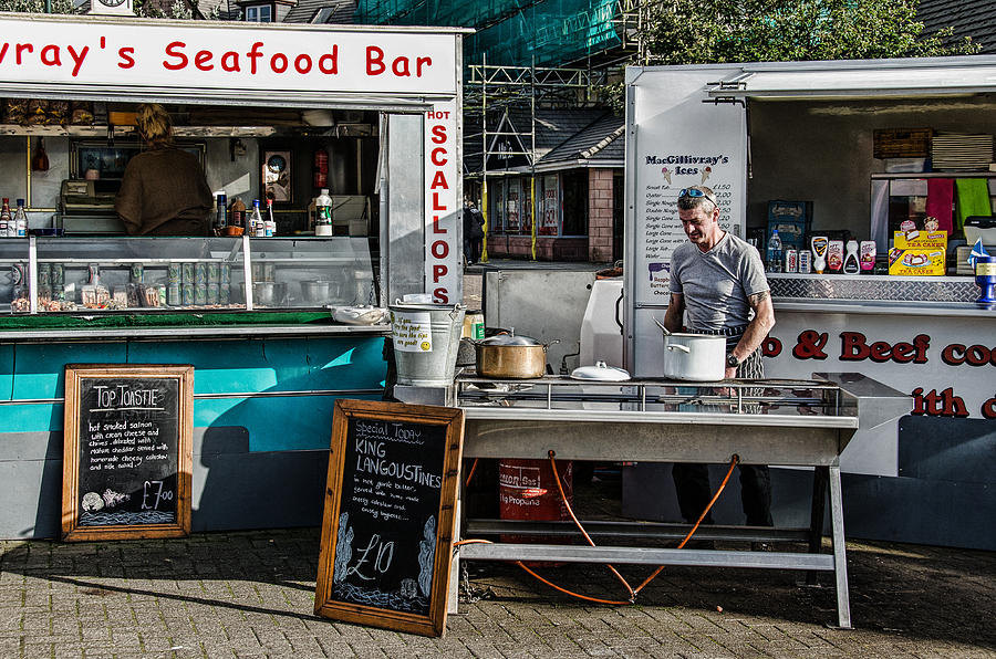 Scotland Photograph - Fresh Seafood by Christine Czernin Morzin