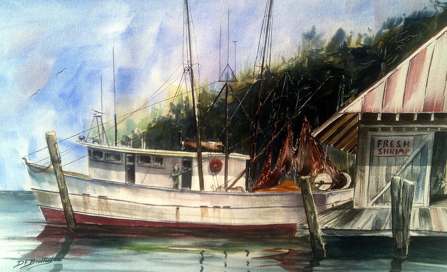 Fresh Shrimp Alabama Painting by Don F  Bradford