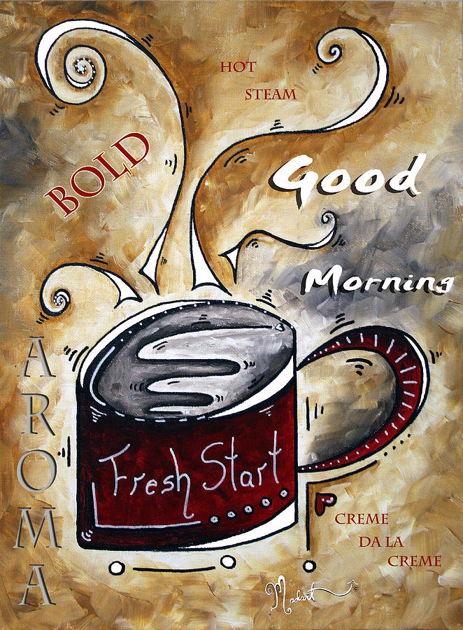 Food Painting - Fresh Start By Madart by Megan Duncanson