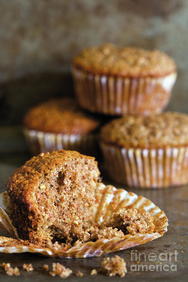 Close-up Photograph - Freshly Baked Muffins by Etienne Outram
