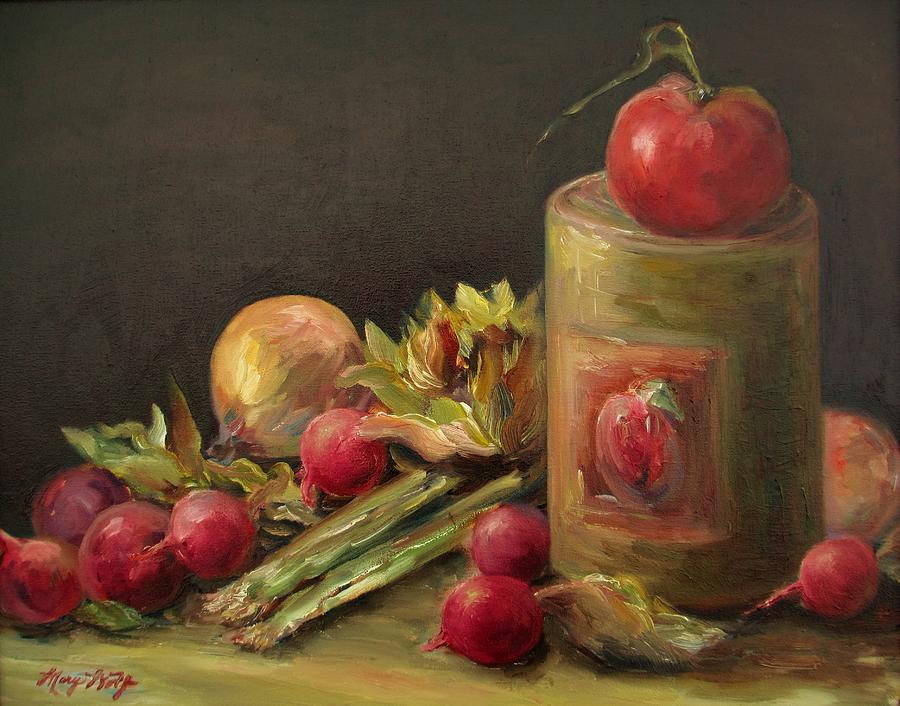 Still Life Painting - Freshly Picked by Mary Wolf