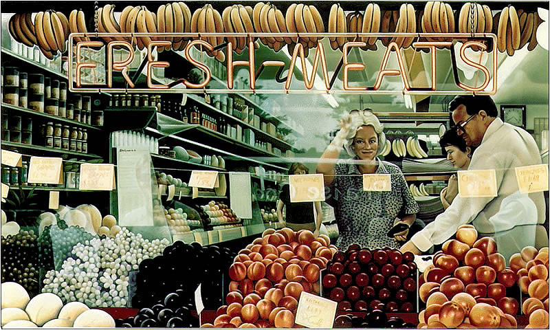 Sign Painting - FreshMeats by Van Cordle