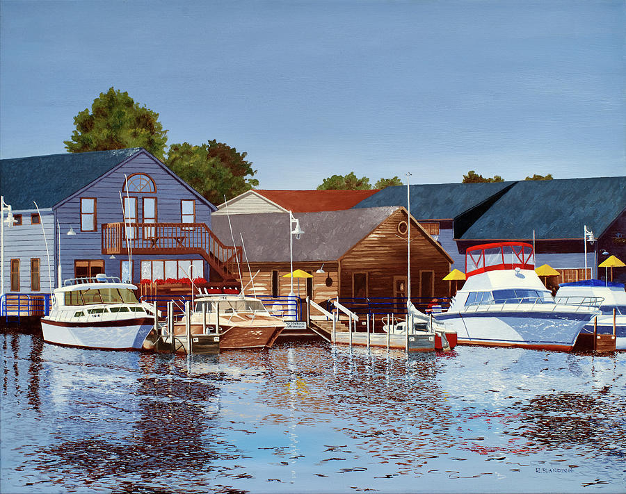 Waterscape Painting - Freshwater Fishers by Hugh Blanding