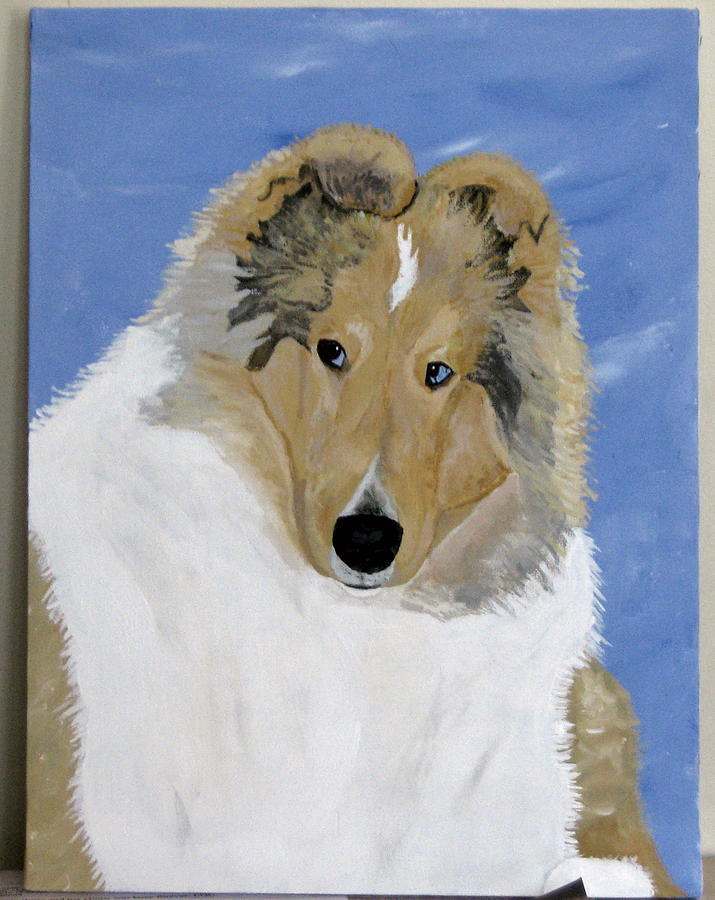 Collie Painting - Frey by Wendy Jackson