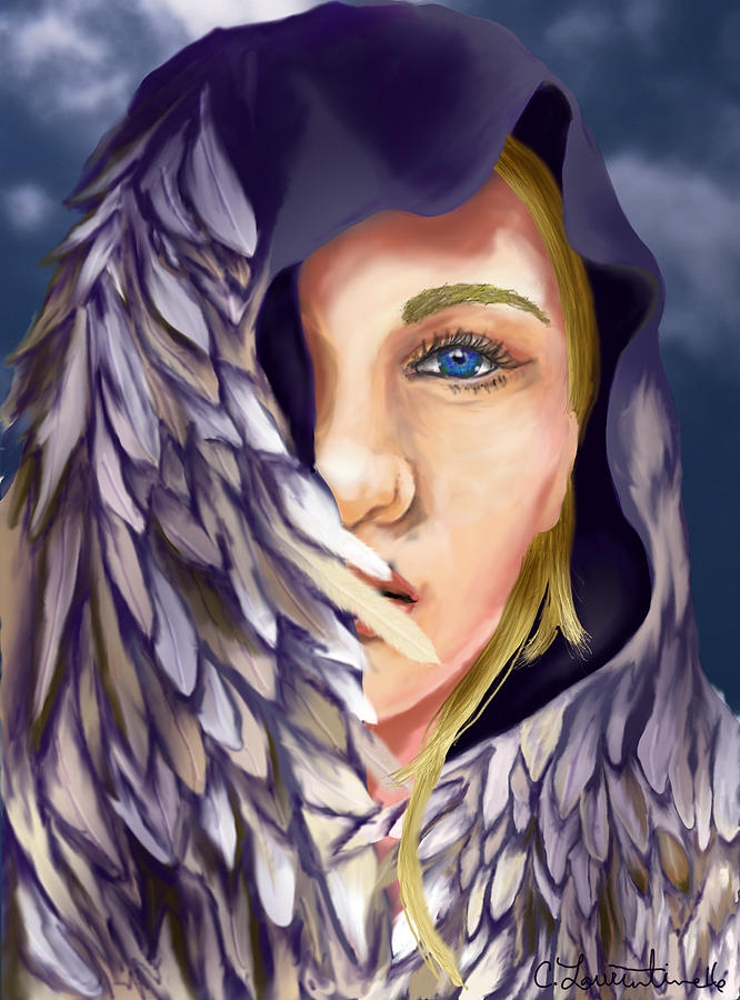 Freya Painting - Freya by Camilla Laurentine