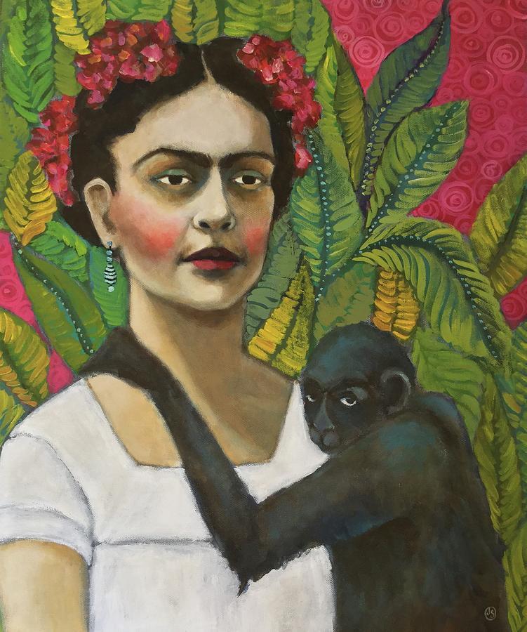 Frida Painting - Frida and Blue by Jane Spakowsky