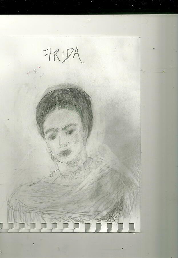 Frida Drawing - Frida by Anne-Elizabeth Whiteway