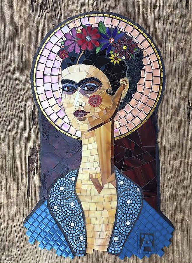 Mosaic Mixed Media - Frida by Anne Marie Price