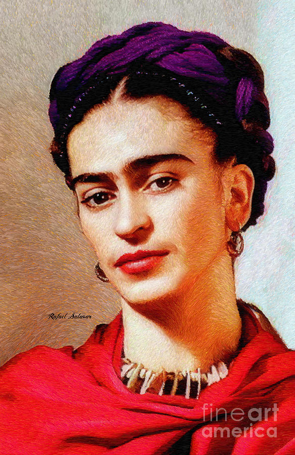 Frida in Red by Rafael Salazar
