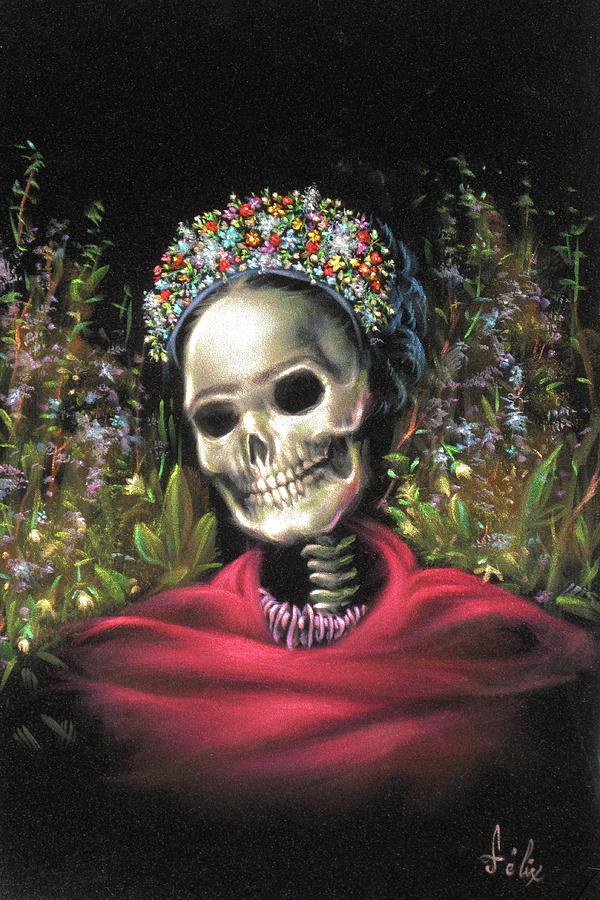 Day Of The Dead Frieda Skulls Yoga Leggings