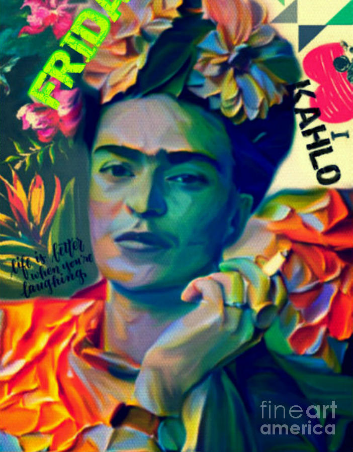 frida kahlo plakative pop art pur painting by felix von. Black Bedroom Furniture Sets. Home Design Ideas