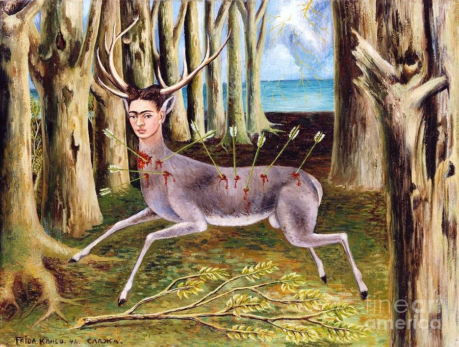 Pd Painting - Frida Kahlo Venadito by Pg Reproductions