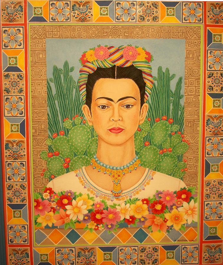 Icons Painting - Frida Khalo by Robert Quijada