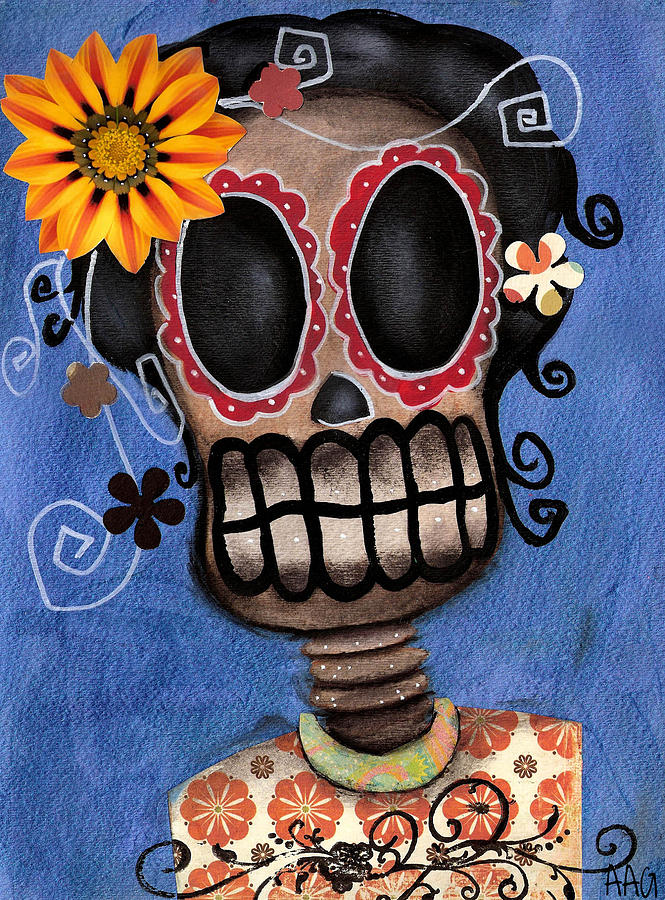 Day Of The Dead Painting - Frida Muerta by  Abril Andrade Griffith