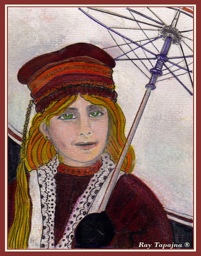 Rainy Day Painting - Frida On Her Way by Ray Tapajna