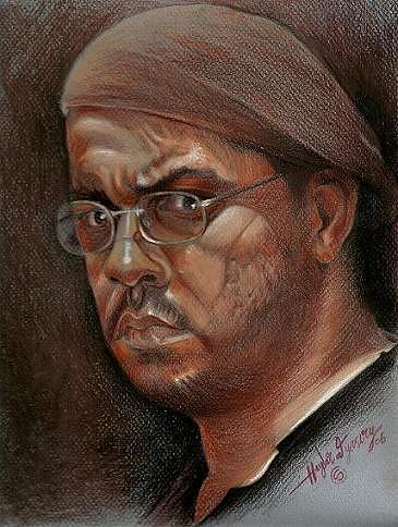 Friend Drawing by Haydar Al-yasiry