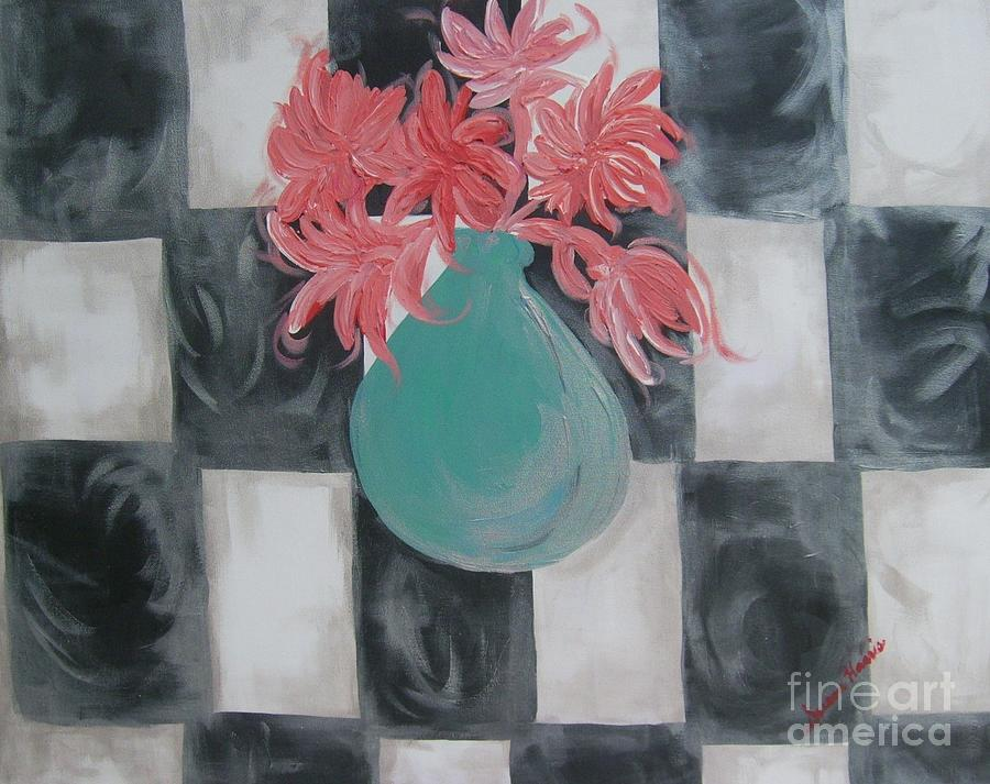 Acrylic Painting Painting - Friendly Flowers by Susan Harris