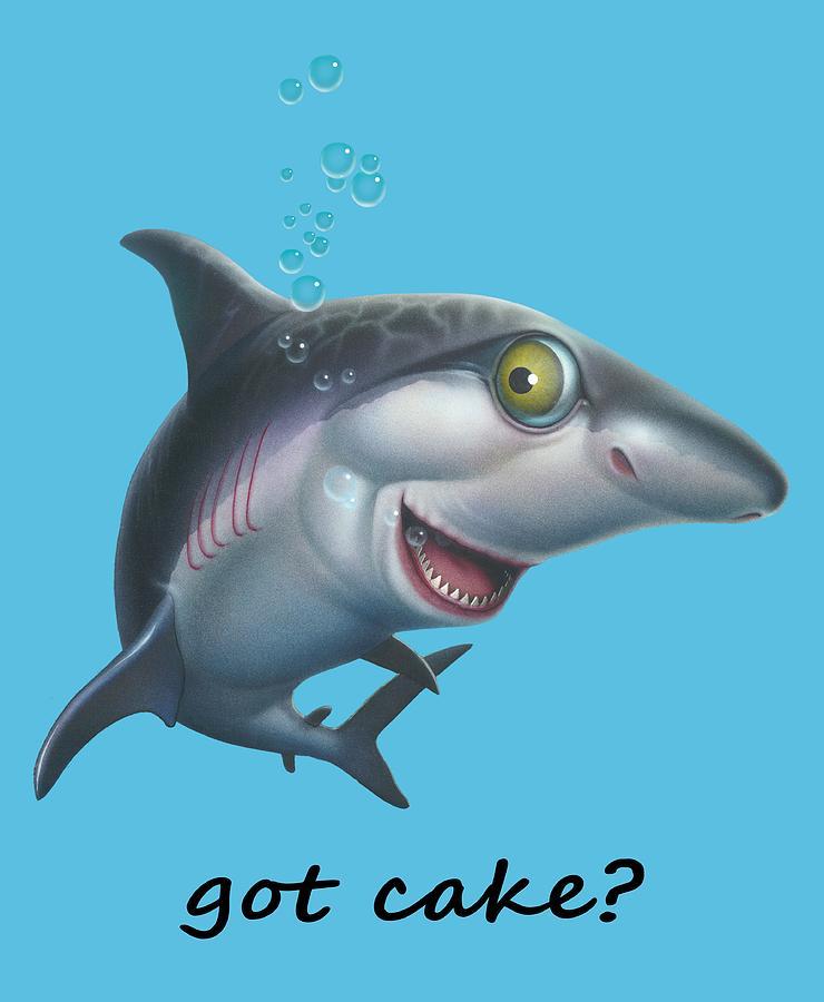 Friendly shark cartoony cartoon under sea ocean underwater scene shark digital art friendly shark cartoony cartoon under sea ocean underwater scene art print by voltagebd Gallery