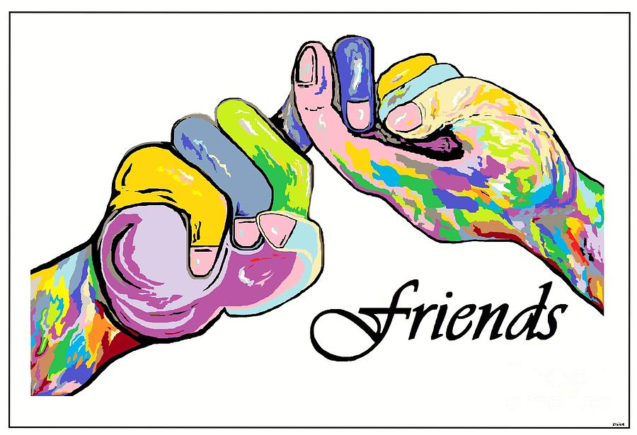 Friends   An American Sign Language Painting Painting