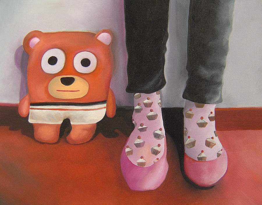 Bear Painting - Friends 3 by Anastassia Neislotova
