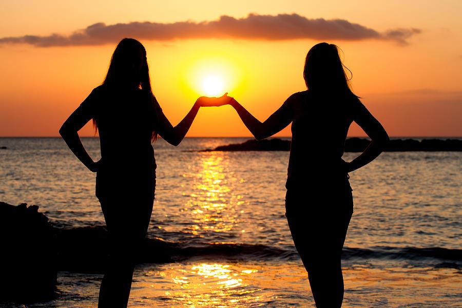 Friends At Beach Marco Island Florida by Toni Thomas