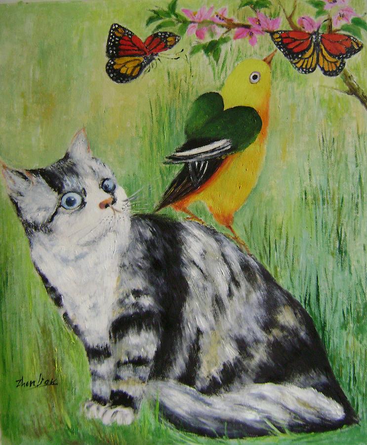 Imaginative Painting - Friends Can Help by Lian Zhen