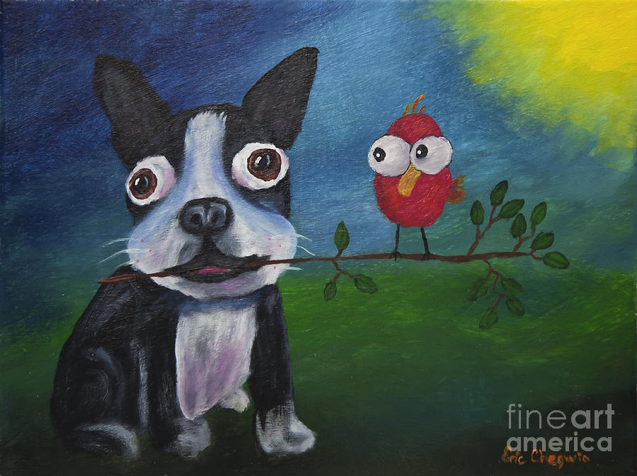 Friends Dont Fly Away Painting