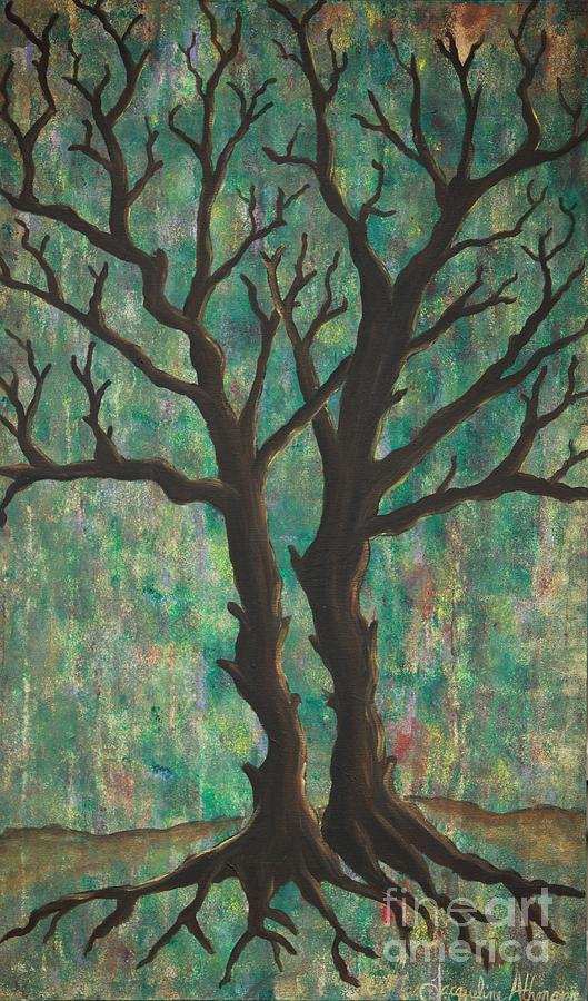 Trees Painting - Friends by Jacqueline Athmann