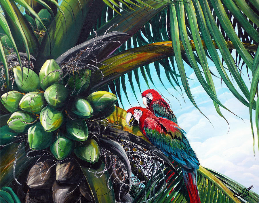 Friends Of A Feather Painting by Karin  Dawn Kelshall- Best