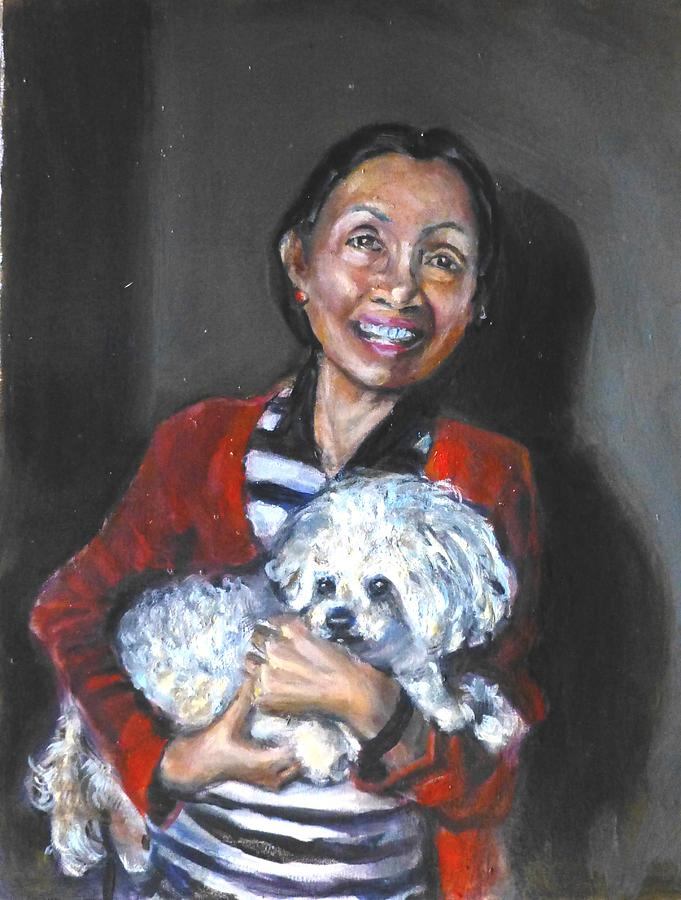 Chinese Woman Painting - Friends by Renuka Pillai
