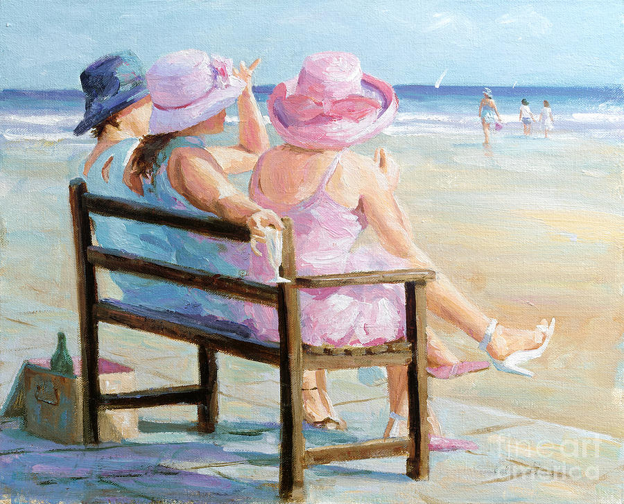 Impressionism Painting - Friends Together by Paul Milner