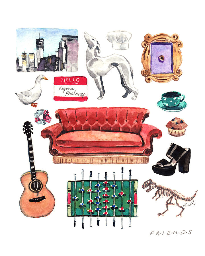 Monica Painting - Friends Tv Show Collage by Laura Row
