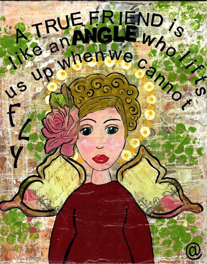 Friends Will Help You Fly Painting by Amber Troxtell