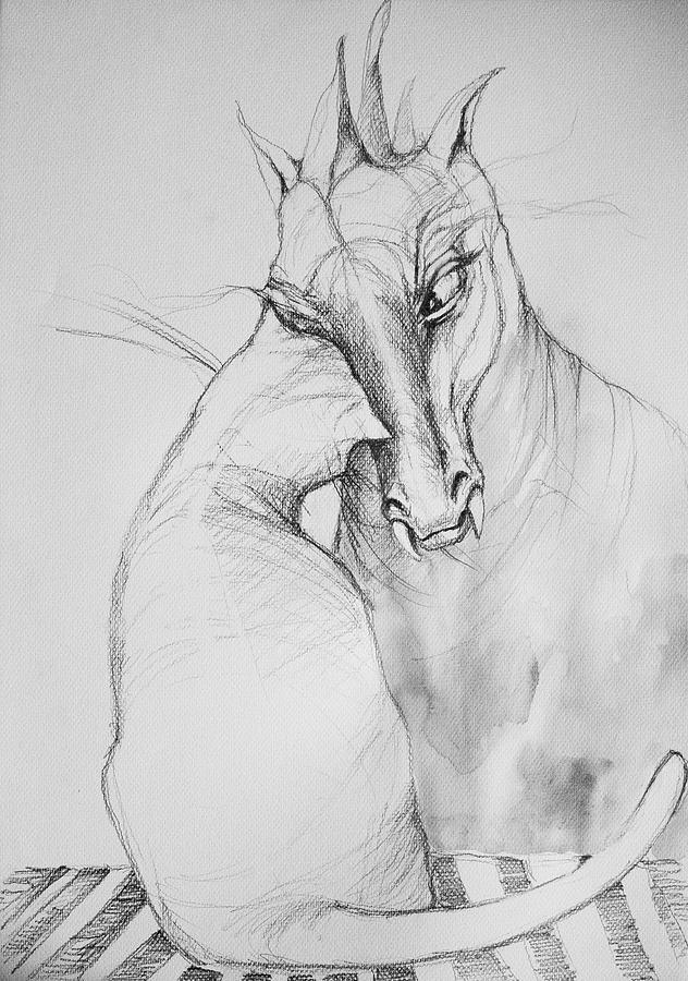 Black Drawing -  Friendship by Adriana Laube