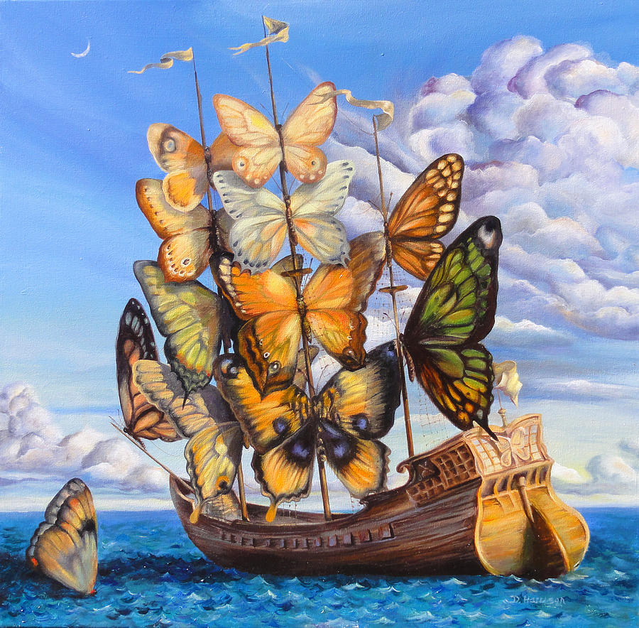 Ocean Painting - Friendship by Denise H Cooperman