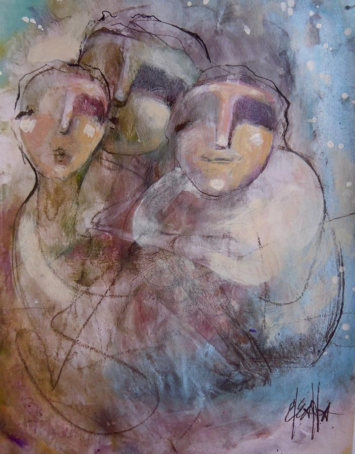 Women Painting - Friendship by Eleatta Diver