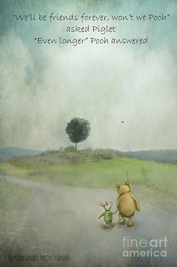 Winnie The Pooh Photograph - Friendship by Kathy Russell