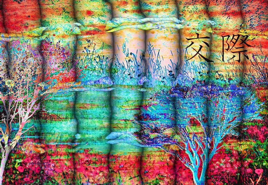 Blue Digital Art - Friendship by Valerie Anne Kelly