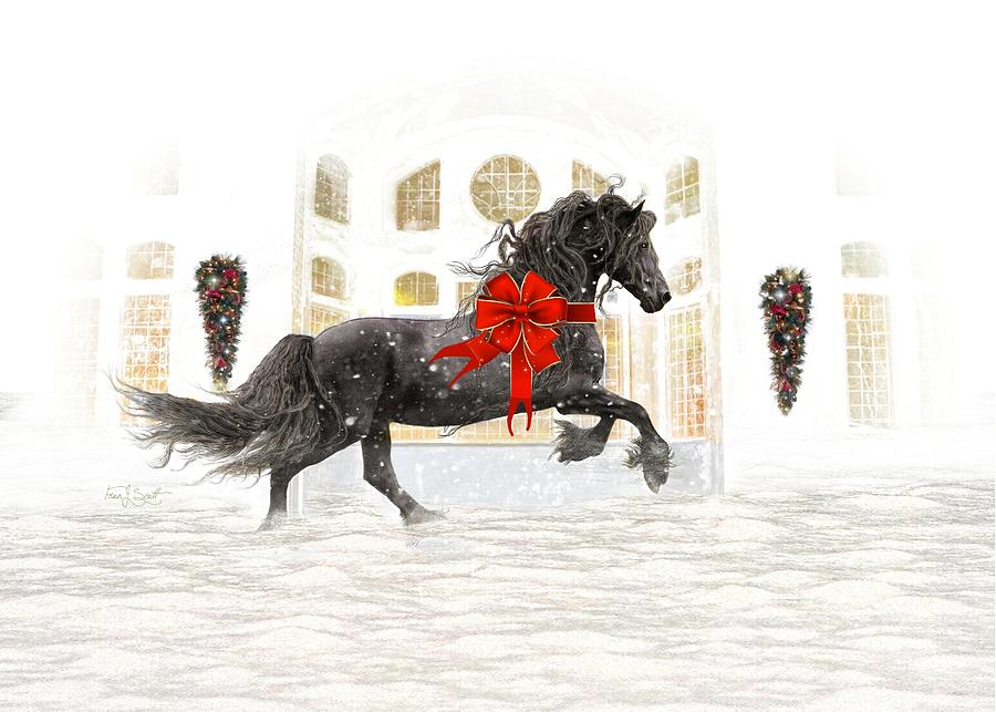 Friesian Christmas by Fran J Scott