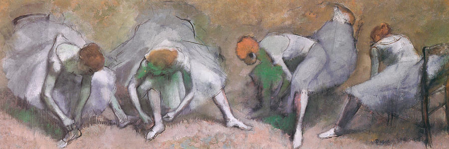 Frieze Of Dancers Painting - Frieze Of Dancers by Edgar Degas