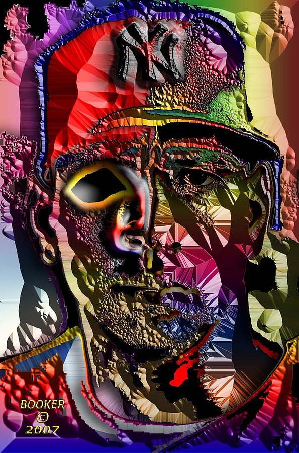 Popart Mixed Media - Fright Bazeball by Booker Williams