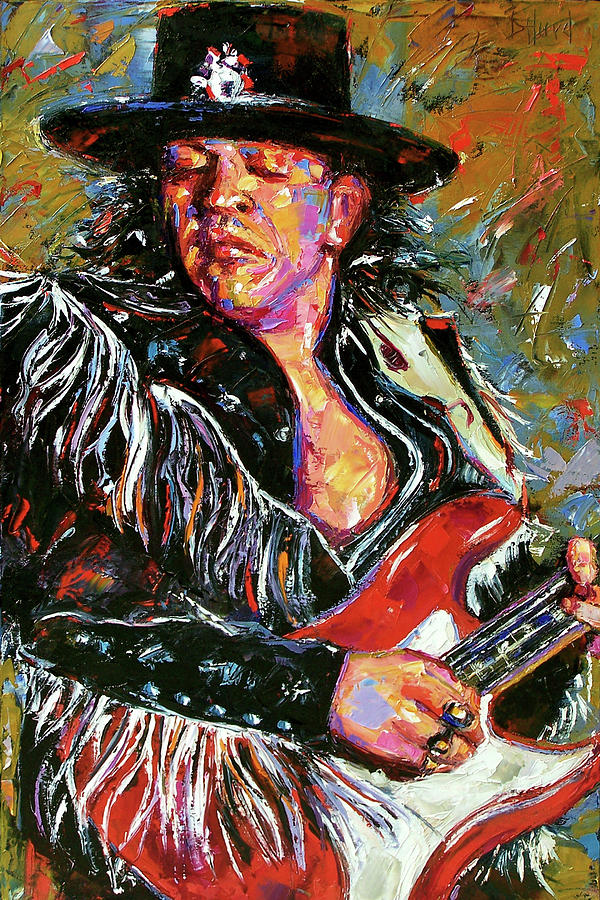 Stevie Ray Vaughan Painting - Fringe by Debra Hurd