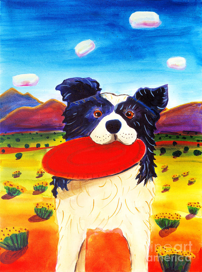 Dog Painting - Frisbee Dog by Harriet Peck Taylor