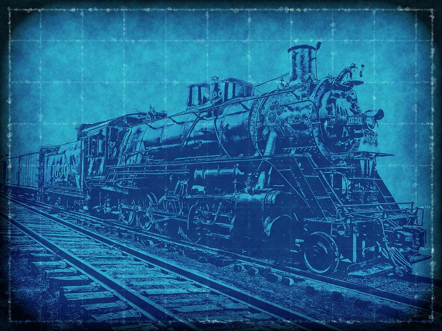 Frisco 1630 steam locomotive blueprint digital art by daniel hagerman railroad digital art frisco 1630 steam locomotive blueprint by daniel hagerman malvernweather Choice Image