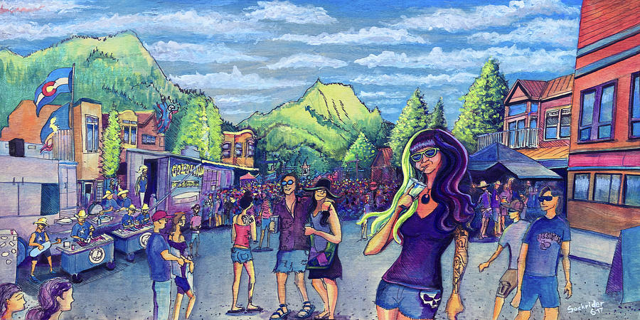 Frisco Painting - Frisco Bbq Festival 2017 by David Sockrider