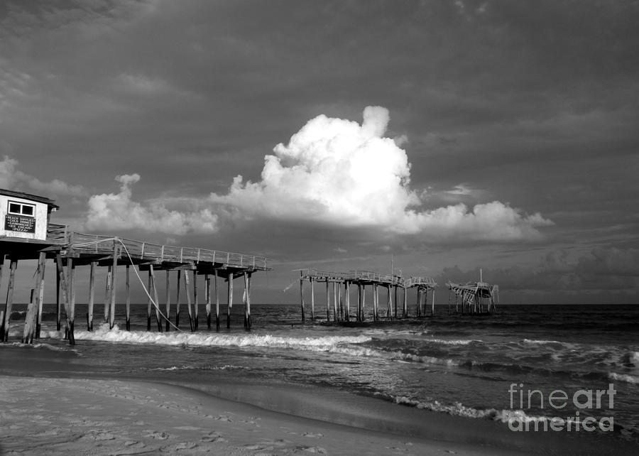 Frisco Pier 2015 B and W  by Jean Wright