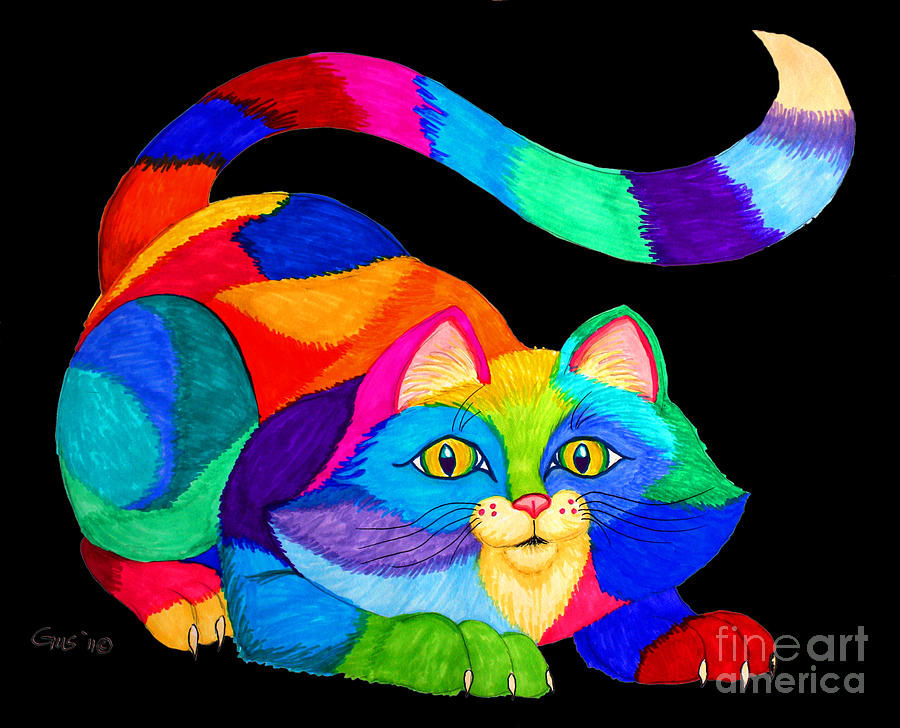 Frisky Cat Drawing