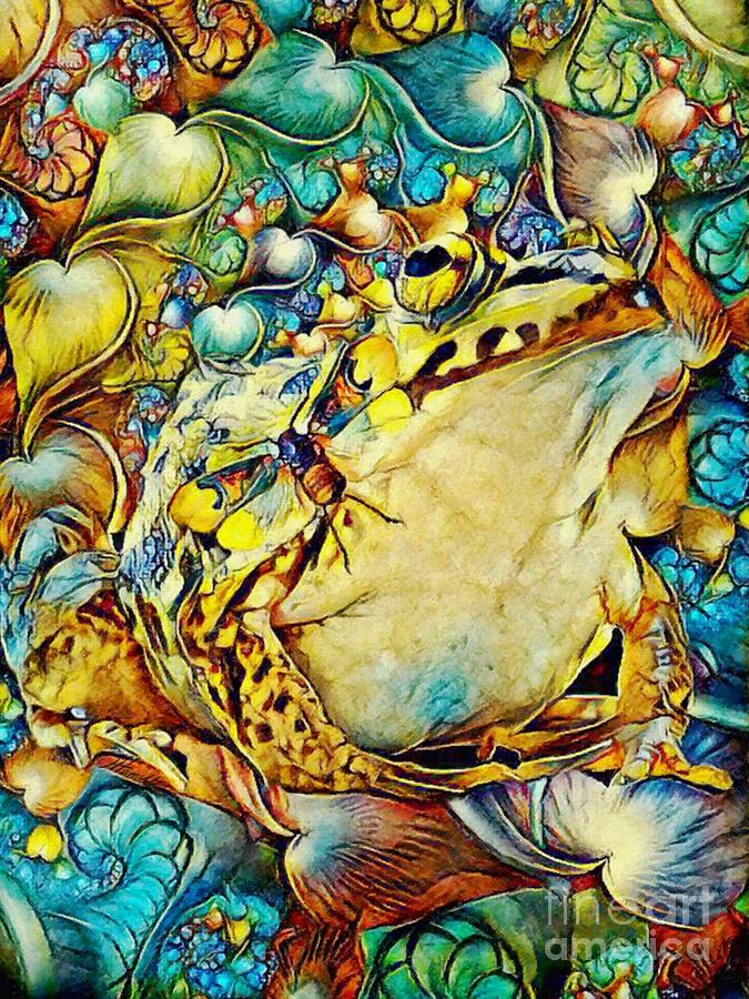 Frog And Cicada by Olga Hamilton